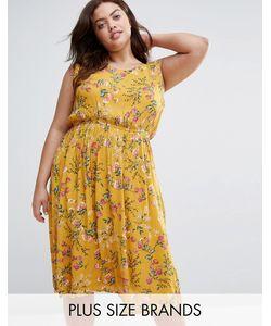 Yumi Plus   Платье С Цветочным Принтом