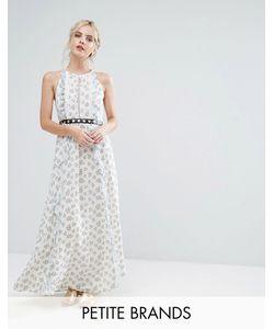 True Decadence Petite | Платье Макси С Цветочным Принтом И Поясом
