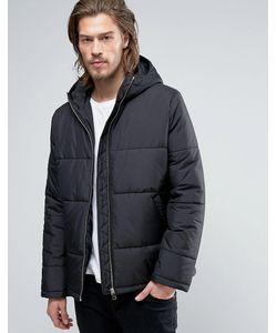 Asos | Черная Дутая Куртка С Капюшоном