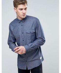 Jack & Jones | Узкая Рубашка Из Шамбре С Длинными Рукавами И Планкой На Пуговицах