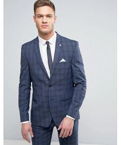 Burton Menswear | Slim Suit Jacket In Check