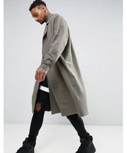 Asos | Длинная Легкая Оversize-Куртка Из Трикотажа