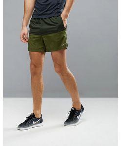 Nike Running | Зеленые Шорты 642804-355