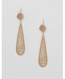 NYLON | Vintage Style Long Pear Drop Earrings