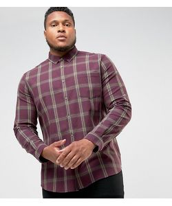 Asos | Узкая Эластичная Рубашка В Клетку Plus