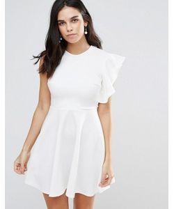 Club L | Короткое Приталенное Платье На Одно Плечо С Оборками