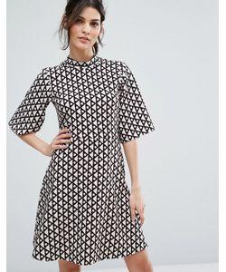 Closet London | Свободное Платье С Высоким Воротником