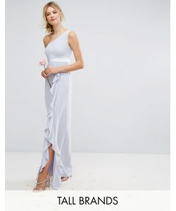 TFNC Tall | Платье Макси На Одно Плечо С Рюшами