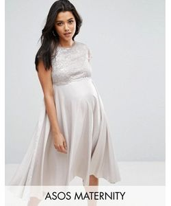 ASOS Maternity | Приталенное Платье Миди Для Беременных