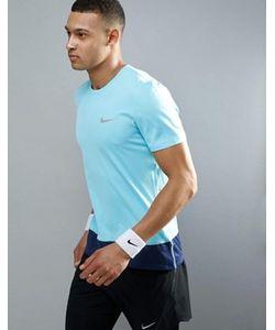 Nike Running | Синяя Футболка Breathe 833608-432