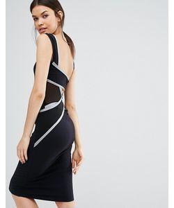 Quontum Tall | Облегающее Платье Миди С Отделкой Сзади
