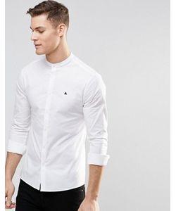 Asos | Рубашка Скинни С Воротником На Пуговице И Логотипом