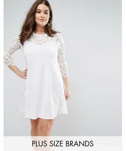 Praslin | Короткое Приталенное Платье С Кружевными Рукавами