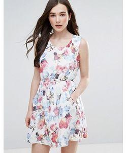 Pussycat London | Короткое Приталенное Платье С Цветочным Принтом