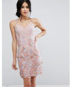 Chi Chi London | Платье-Футляр С 3d Вышивкой