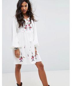 boohoo | Свободное Платье С Вышивкой