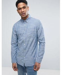 New Look | Голубая Рубашка Классического Кроя Из Шамбре