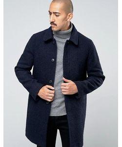 Stanley Adams | Темно Пальто Из Ткани Букле С Высоким Содержанием Шерсти