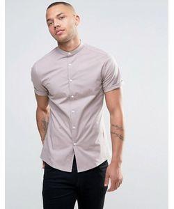 Asos | Розовая Рубашка Скинни С Воротником На Пуговице