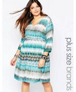 Diya | Короткое Приталенное Платье В Разноцветную Полоску Plus