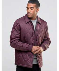 Asos | Бордовая Стеганая Куртка