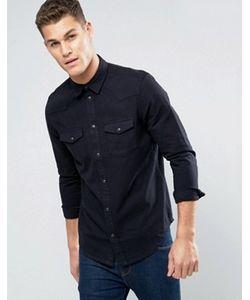 New Look | Черная Джинсовая Рубашка Классического Кроя В Стиле Вестерн
