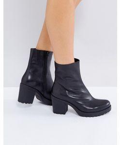 Vagabond | Черные Кожаные Ботинки Grace