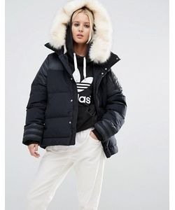 Adidas | Дутая Куртка С Отделкой Искусственным Мехом Originals