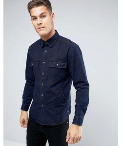 Esprit | Джинсовая Рубашка Навыпуск Классического Кроя
