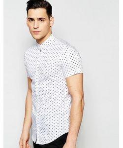 Vito | Рубашка Слим С Короткими Рукавами И Принтом Сердце