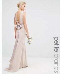 TFNC Petite | Свадебное Платье Макси С Сатиновым Бантом Сзади