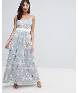 Uttam Boutique | Платье Макси С Цветочным Принтом И Контрастным Поясом