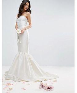 Asos | Платье Макси С Широкой Волнистой Кромкой Bridal