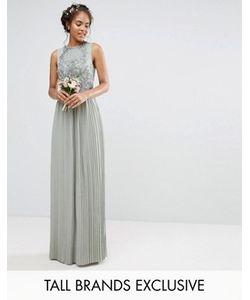 Maya Tall | Декорированное Платье Макси С Плиссированной Юбкой