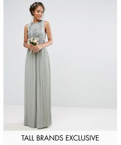 Maya Tall | Embellished Top Maxi Dress With Pleated Skirt