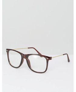 7X | Очки С Прозрачными Прямоугольными Стеклами