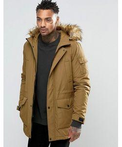 Asos | Куртка С Отделкой Искусственным Мехом