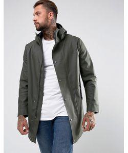 Hunter | Пальто Цвета С Прорезиненным Эффектом
