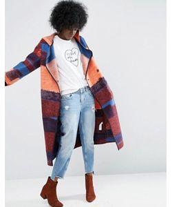 ASOS Made In Kenya   Шерстяное Пальто С Капюшоном