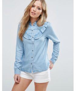 Vero Moda | Джинсовая Рубашка С Рюшами