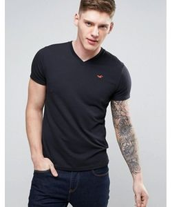 Hollister | Must Have Logo T-Shirt V Neck Slim Fit In