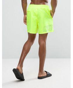 Nike | Желтые Шорты Для Плавания С Принтом Логотипа Сзади