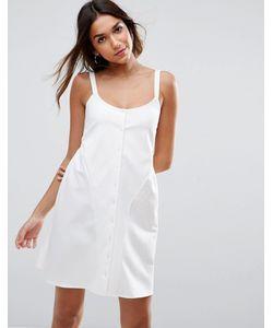 Asos | Свободное Платье Мини На Пуговицах