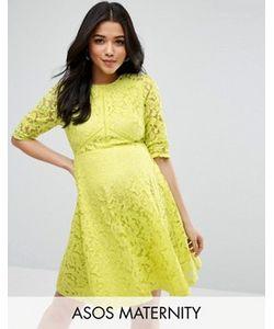 ASOS Maternity | Короткое Приталенное Платье Из Кружева Для Беременных
