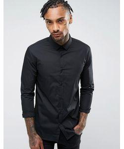River Island | Черная Облегающая Рубашка
