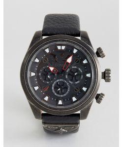 Police | Часы С Черным Кожаным Ремешком Mephisto