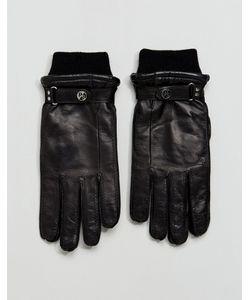 PS PAUL SMITH | Черные Кожаные Перчатки