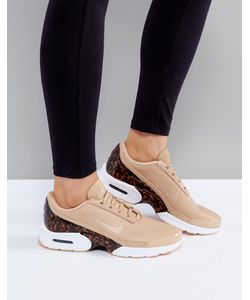Nike | Светло-Коричневые Кожаные Кроссовки Air Max Jewell Lx