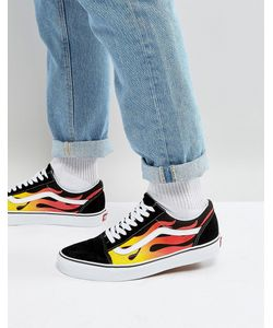 Vans | Черные Кеды Flame Old Skool Va38g1phn