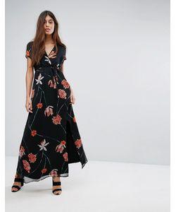 Vero Moda | Сетчатое Платье Макси С Цветочным Принтом